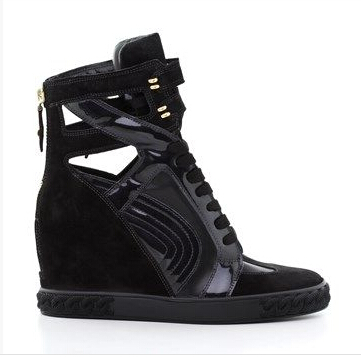 Black hot selling high top wedges women shoes woman round toe back zipper shoes woman fashion short boots outdoor shoes woman pl hot selling portable woman infrared mammary diagnostic for women self inspection