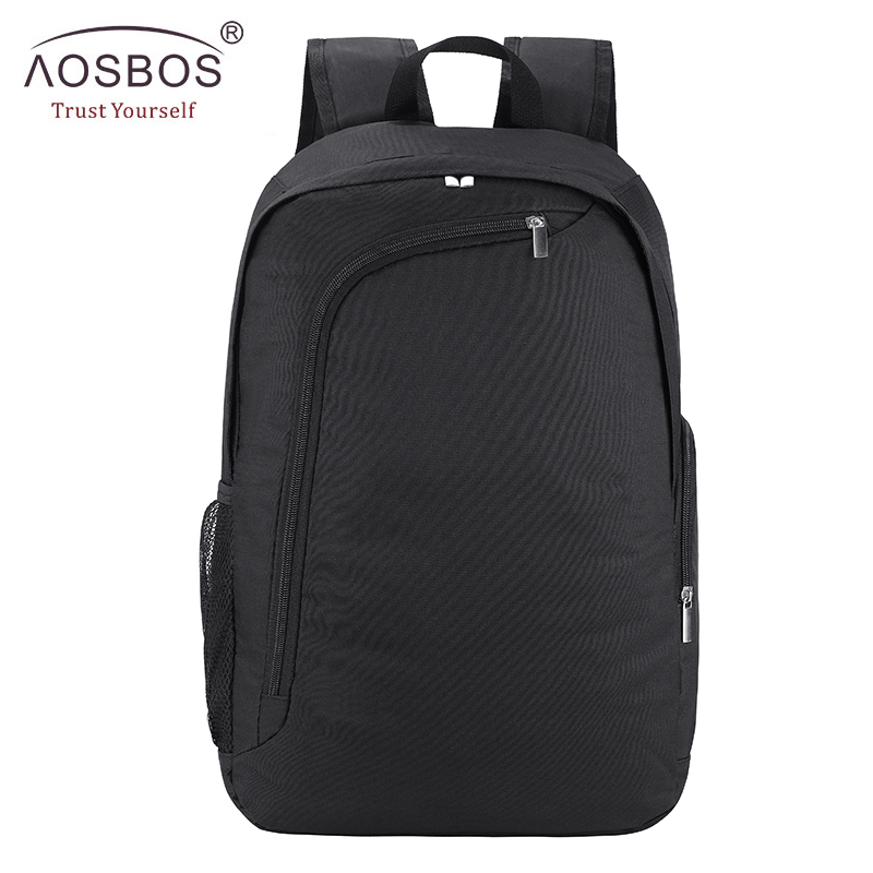 Aosbos Brand New Solid Laptop Backpack High Quality Women Men Minimalist Backpacks Casual Students School bags for girl boy