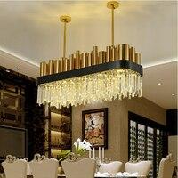 Luzes da Sala de jantar Iluminação Ilha de Lâmpadas Penduradas Luzes Nordic Ferro Forjado Pingente de Cristal de Iluminação Pingente Lâmpada Criativo pendentes de iluminação para casa lustre pendente lustres para quart|Luzes de pendentes| |  -