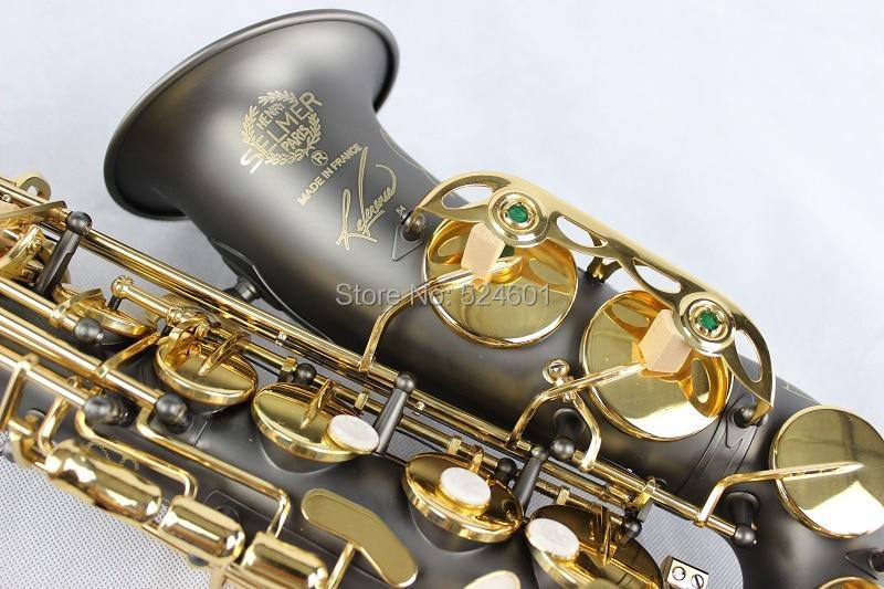 Copy France Henri Selmer Alto Saxophone Reference 54 Black Nickel Gold