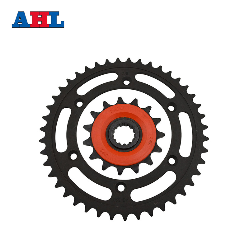 Racing Motorcycle Parts Front & Rear Sprocket Star 43-14 Teeth For Suzuki DRZ 400 DR-Z 400 Sprockets Fit 520 Drive Chain 1 set front and rear sprocket chain