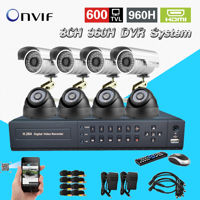 TEATE 8Ch IR Surveillance Kit Home Security network HDMI 1080P DVR NVR video Recorder cctv System 960H D1 recording CK-188 sannce 8 channel 720p 1080n h 264 video recorder hdmi network cctv dvr 8ch for home security camera surveillance system kit