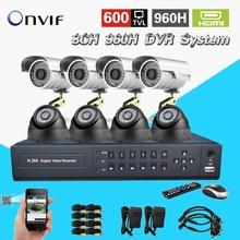 TEATE 8Ch IR Surveillance Kit Home Security network HDMI 1080P DVR NVR video Recorder cctv System 960H D1 recording CK-188