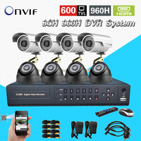 8Ch IR Surveillance CCTV Camera Kit Home Security Network HDMI 1080P DVR NVR Video Recorder Cctv