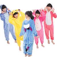 Tutina Bambini Unicorn Kigurumi Pigiama Panda Licorne Punto Pijama Ragazzi Ragazze Animali Pigiama di Flanella Divertente Cosplay Con Cappuccio Traversine