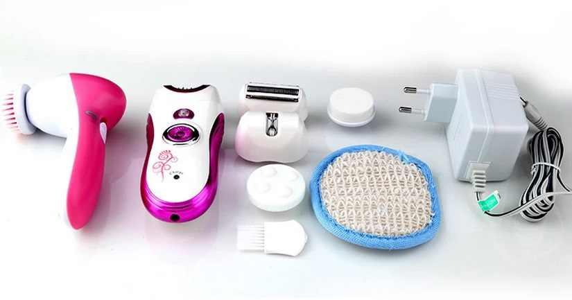 6in1 donne epilatore elettrico di rimozione dei capelli bikini trimmer epilatore femminile viso depilazione epilazione depilatoria 220-240 v