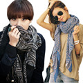 Luck Dog Lady Women Vintage Long Soft Printed Scarves Shawl Wrap Scarf