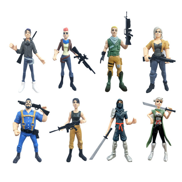 8pcs/lot Popular Game Llama Figure Toys Halloween Style Fortnight Night Character Model Doll Toy Best Christmas Gifts For Kids