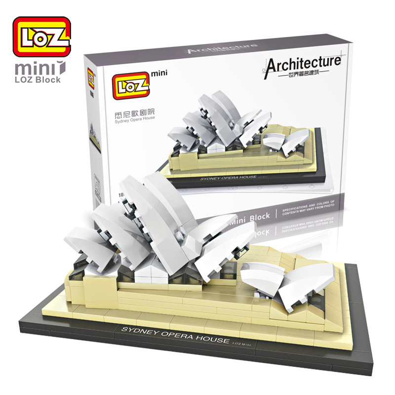 LOZ Famous Architecture Series 1006 Sydney Opera House Mini Building Blocks Assembled Children Educational Toys Christmas Gifts loz lincoln memorial mini block world famous architecture series building blocks classic toys model gift museum model mr froger