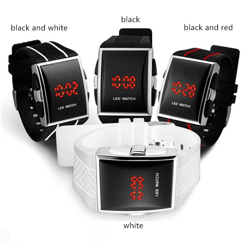 New Durable LED Electronic Watch Men's Fashion Casual Creative Sports Watch Men and Women LED Electronic Watch