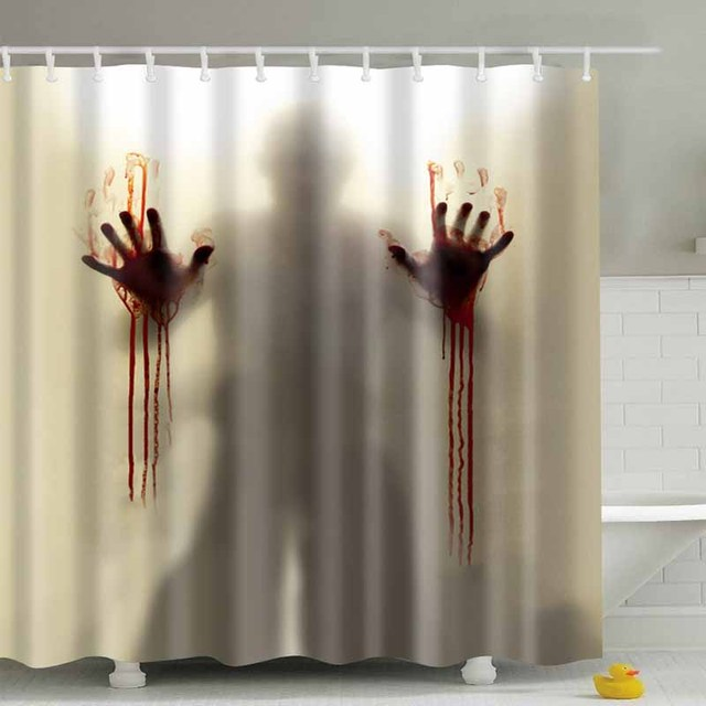 Luxurysmart Zombie Man With Bloody Hands Shower Curtains Custom Creative Curtain Bathroom Waterproof Polyester Fabric