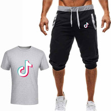 Men Sportswear 2019 New Summer Mens Tracksuit Short Sleeve T Shirt + Shorts Sets 2 Pieces Casual Beach Fashion CasualSuits