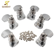 6Pcs 3R 3L Chrome Guitar String Replacement Tuning Pegs Tuners Machine Heads Acoustic Electric Guitar Parts & Accessories