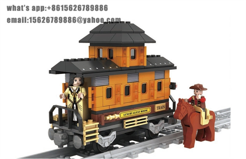 Ausini Model building kits compatible with lego city train 709 3D blocks Educational model & building toys hobbies for children