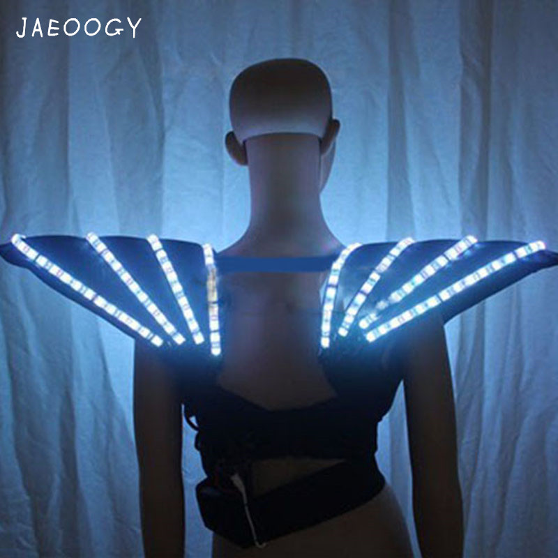 aa0fc3571dd8c Free shipping 2018 RGB LED bra Colorful shoulder dance costumes luminous  vest for ballroom bar dj disco party event singer sexy-in Glow Party  Supplies from ...