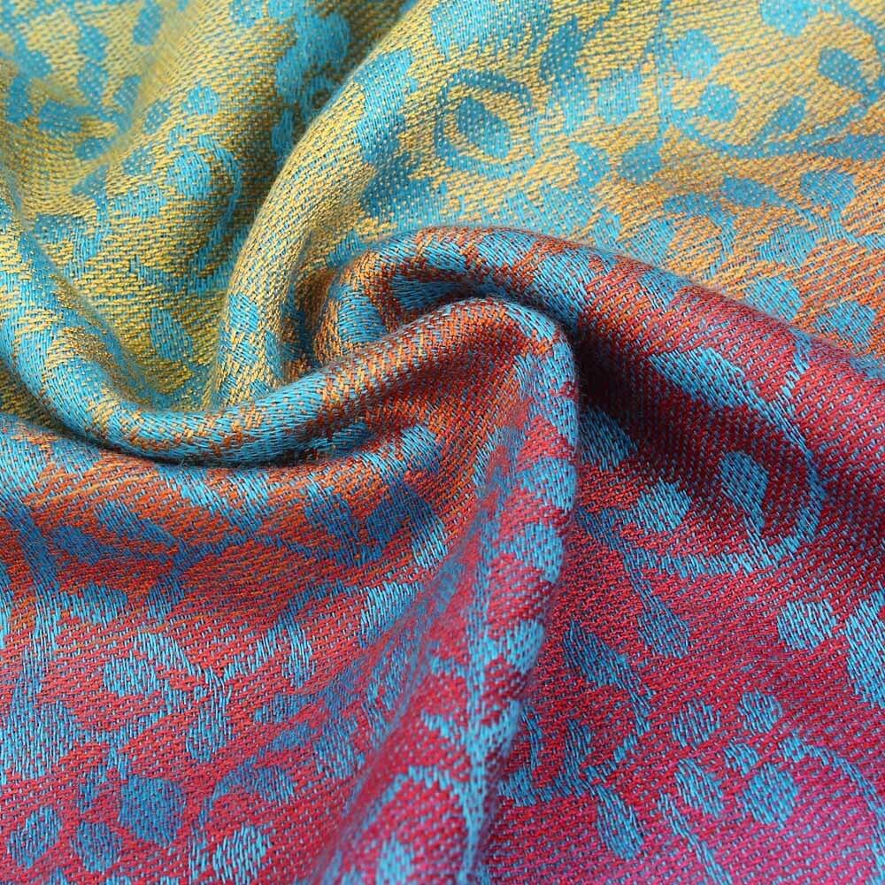 Women's Elephant Print Multicolor Style Scarf 6
