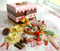 New arrival  chocolate box play house toys chocolate workshop  Cutting Vegetables Kitchen Toy Kitchen Wooden Play Food