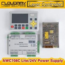 Trocen Anywells AWC708C Lite Sistema Controlador de Láser Co2 + Meanwell 24 V 3.2A 75 W Fuente De Alimentación Conmutada