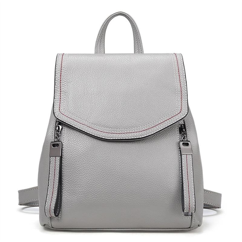 Nesitu высокое качество мода новый черный серый коричневый синий милый натуральная кожа маленький женский рюкзак девушка Женская дорожная сумка M191 - 2