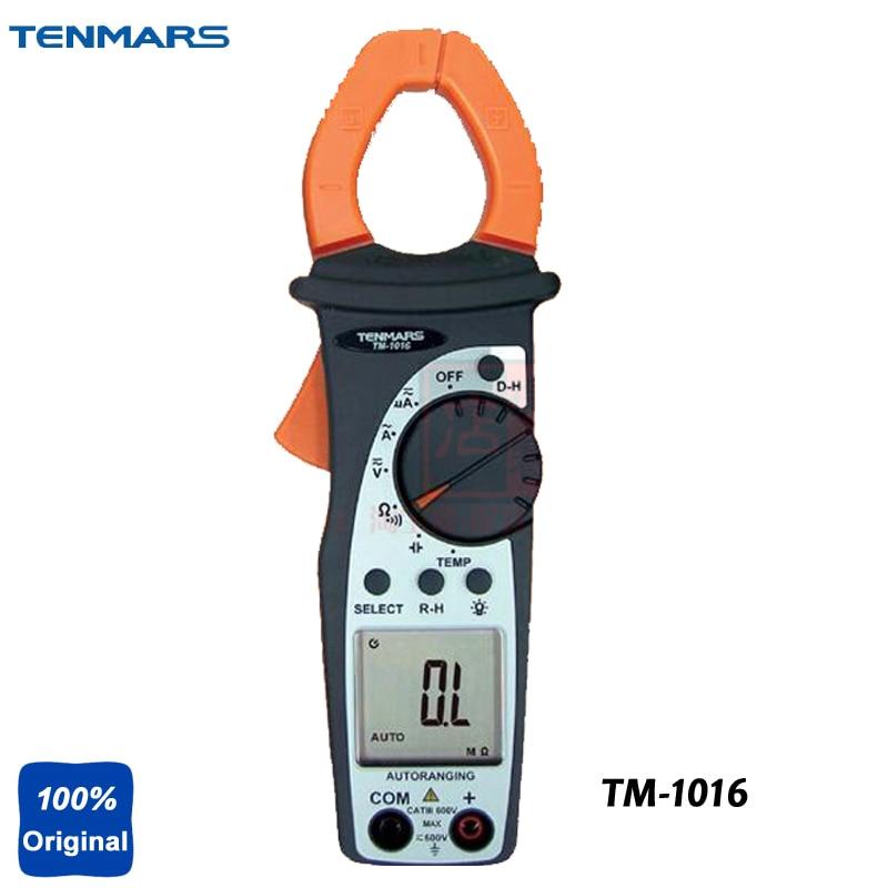 TM-1016 ACV, ACA, DCV, DCA, Resistance, Continuity, Capacitance, and Temperature Tester,AC-HVAC Clamp Meter tm 1005 digital ac clamp meter ac transducer with aca output 1 400mv tm1005