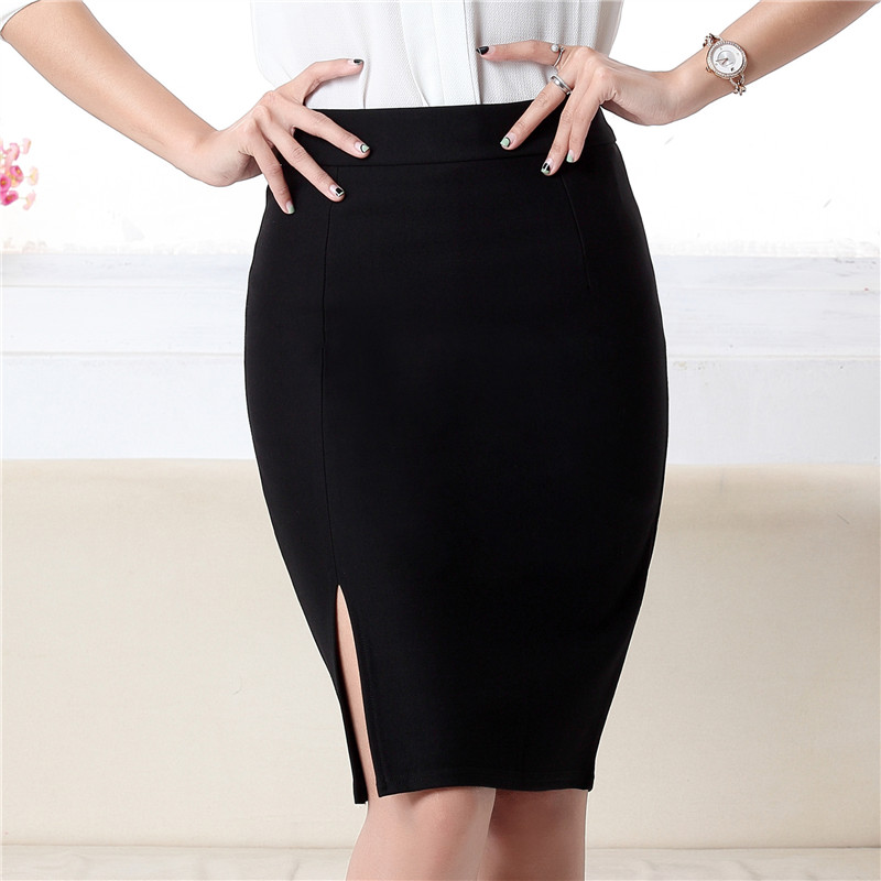 Female New Hot Fashion 2019 Spring Summer Women Skirt High Waist Work Slim Pencil Skirt Open Fork Sexy Office Lady Skirts NO778 in Skirts from Women 39 s Clothing