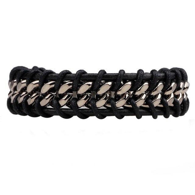 Мужской кожаный браслет jashion ручной работы в стиле ретро