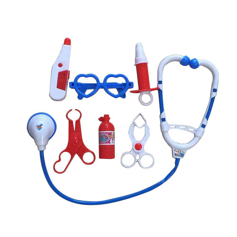 7pcs/set Kids Play Doctor Game Toy Children Simulation Hospital Pretend Doctors Kit Child Stethoscope Cosplay Toys TY0328