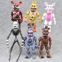6pcs/set At Freddy's Five Nights PVC Action figure 17cm Bonnie Foxy Freddy toys Fazbear Bear Doll baby toys Christmas gift 2018