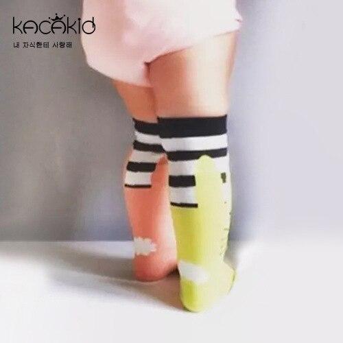Kacakid Autumn new childrens socks baby boy girls asymmetry socks kids cartoon dots fashion small long socks