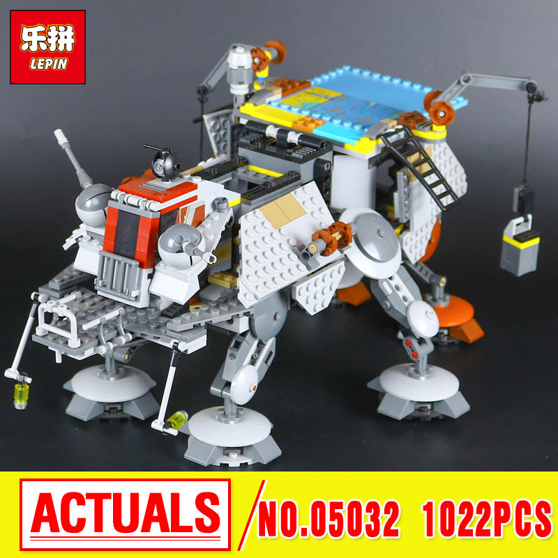 2016 New LEPIN 05032 Star  Captain Rex's AT- Model TE Building Kit  Blocks Bricks Compatible Children Toys 75157 wars lepin 05032 star wars rex s at te model building kits compatible with lego city 3d blocks educational toys hobbies for children