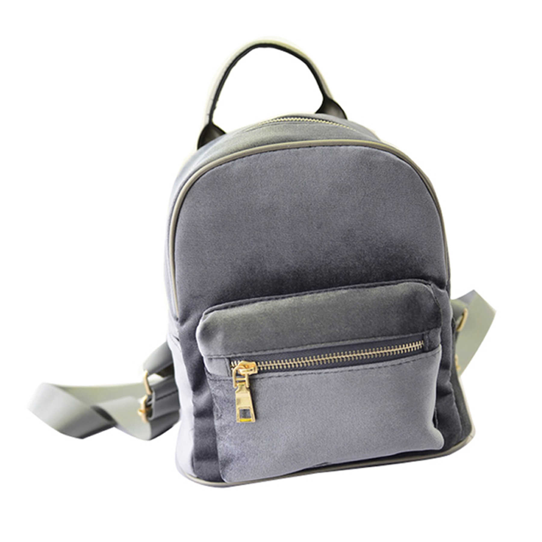 2156fe9a32 Women Small Backpack Student Fishion Mini Velvet Zipper bag High Quality  Casual Small light Girl School