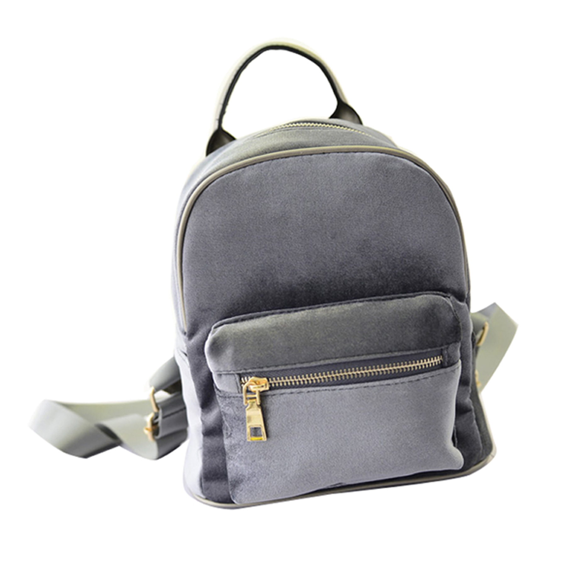 Women Small Backpack Student Fishion Mini Velvet Zipper bag High Quality Casual Small light Girl School bag Simple Style