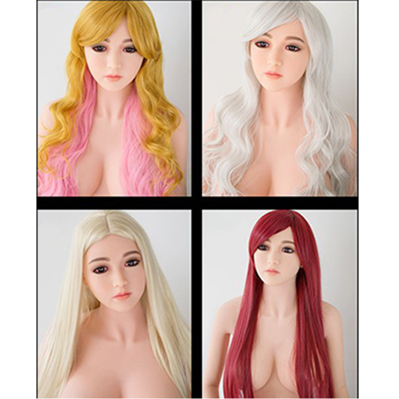 Rifrano 32 Style Optional Human Hair Wigs for Black Women Real Silicone Sex Doll Wig Hair for Sex Doll Dress Up 2 Pack nlw brazilian virgin human hair full lace wigs afro kinky curl glueless wigs