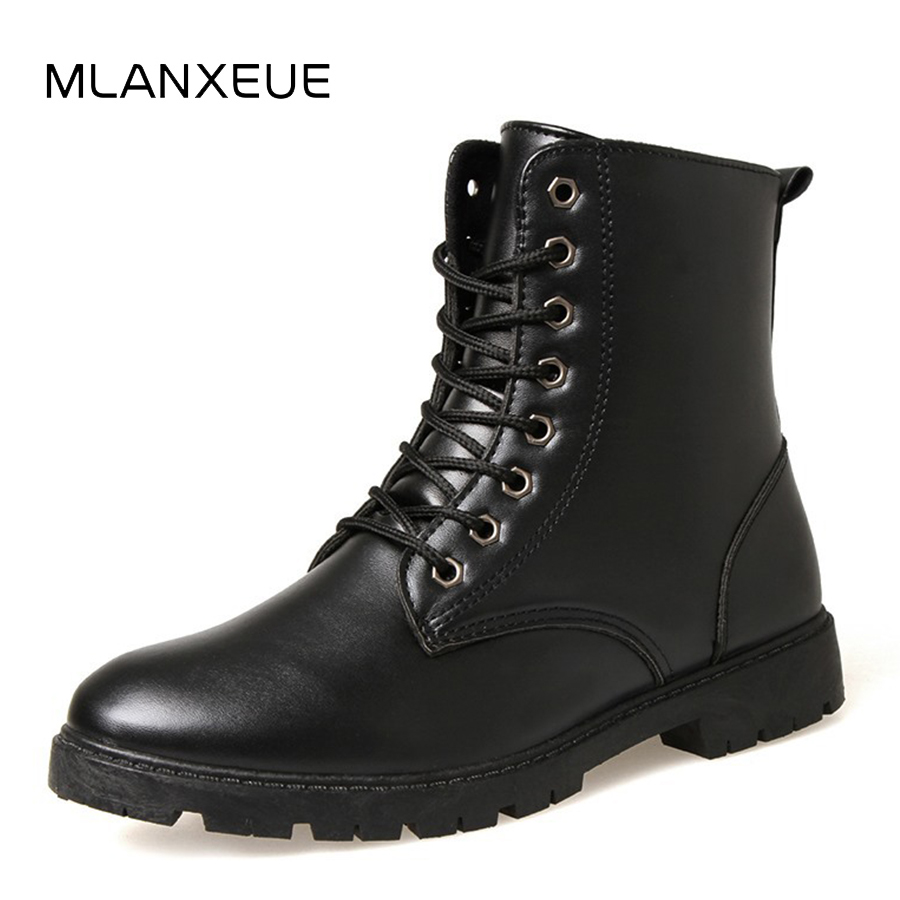 MLANXEUE Fashion Leather Men Martin Boots Shoes Men Lace-up Hight-cut Male Shoes Non-slip Man Snow Boots Autumn Winter Boots fyscope 2 0mp hd digital microscope camera vga usb av video output for industry pcb lab