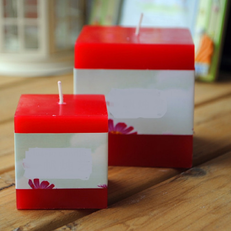 Creative Scented Birthday Weddings Candles Colorful Rectangle Flameless Candles Aromathe ...