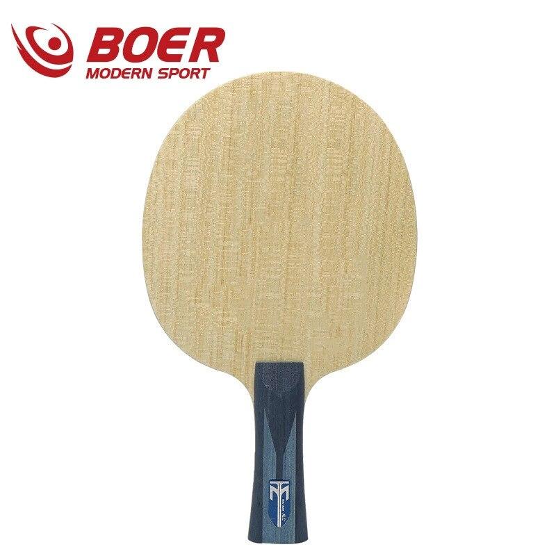 7 schichten ALC Carbon Faser AYOURS Holz Tischtennis Klinge Leichte Nicht-Bouncy Klinge Amateure Hohe Schläger