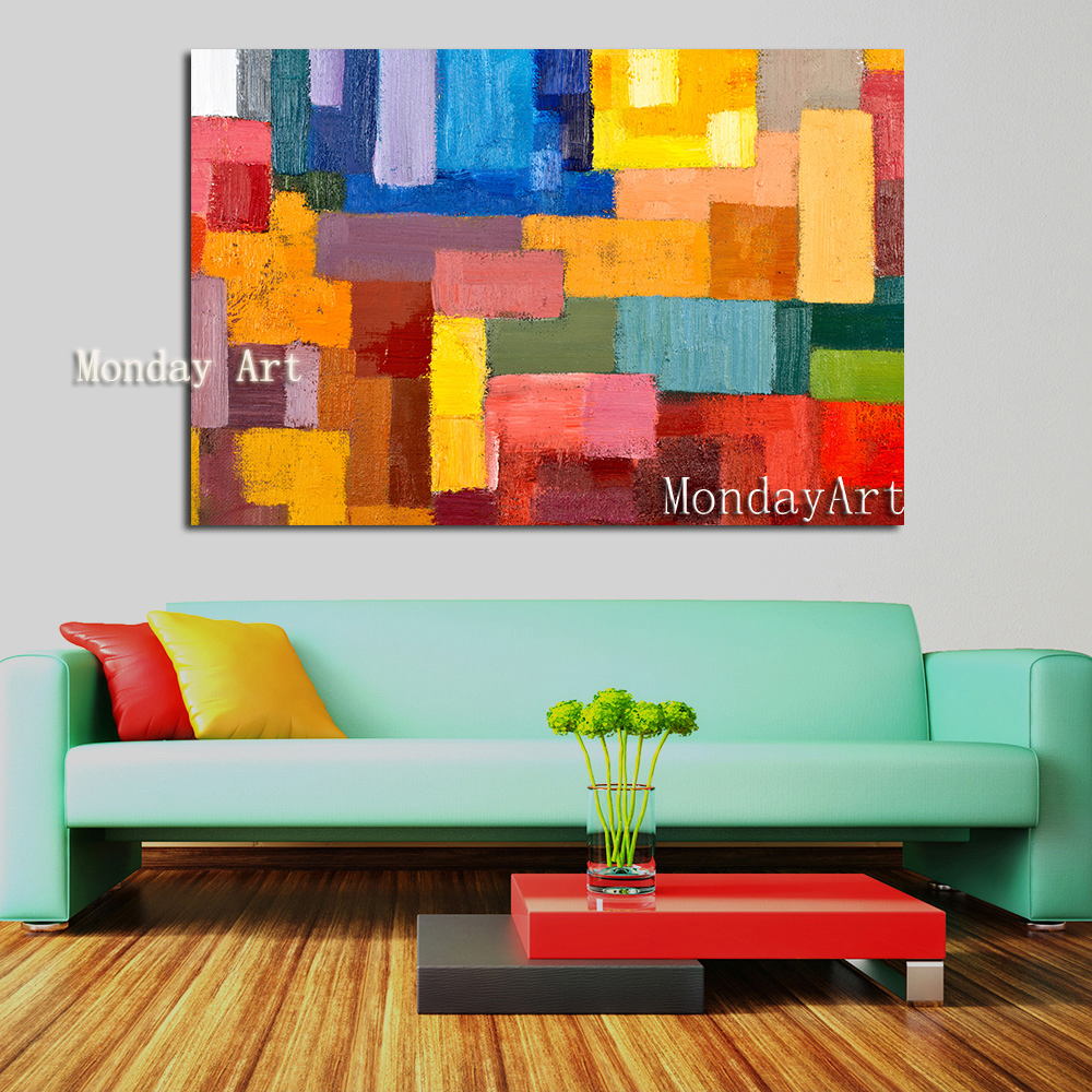 322 Wall-art-Colorful-BLock-Paintings-on-Canvas-Posters-and-Prints-Wall-pictures-for-Living-Room-Home -