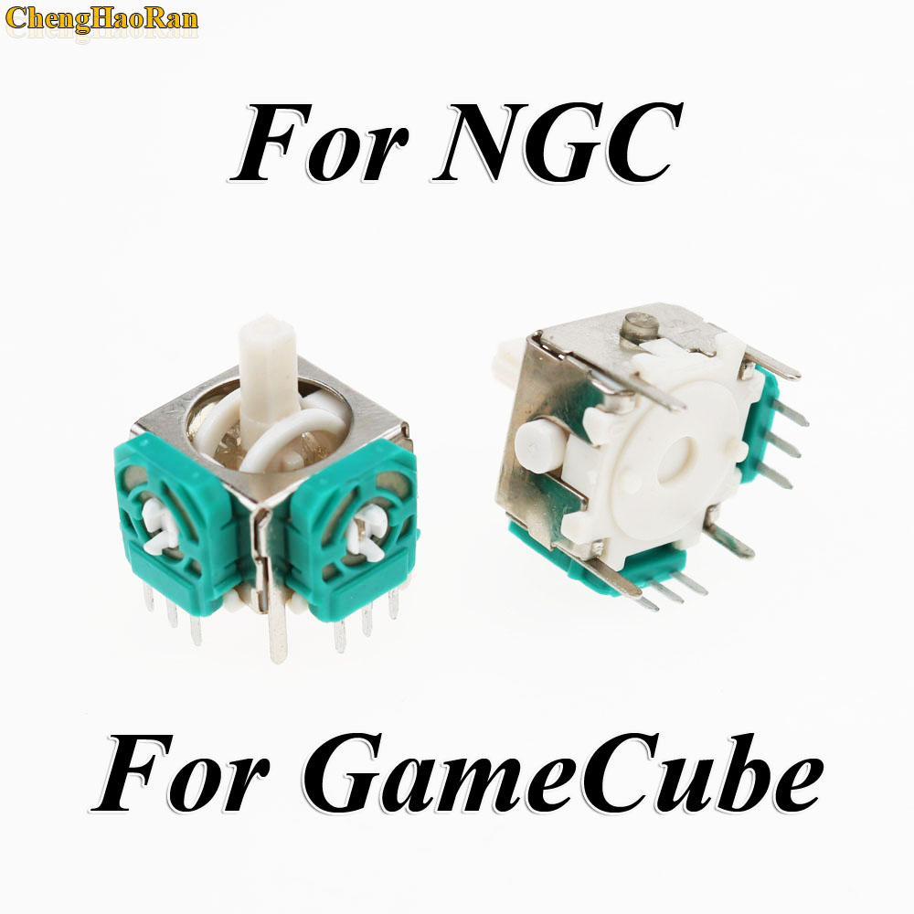 Image 3 - 1set For Nintendo Game Cube for NGC Controller Left and Right 3D Analog Joysticks Replacement with Controller stick Cap-in Replacement Parts & Accessories from Consumer Electronics