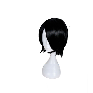 Image 2 - L email wig New Arrival 35cm NARUTO Uchiha Sarada Cosplay Wigs Black Heat Resistant Synthetic Hair Perucas Cosplay Wig