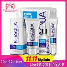 BIOAQUA Anti Acne Set Face Care Treatment Scars Set Anti Acne Removal Gel Whitening Moisturizing Scar Shrink Pores Set 4 pcs(China)