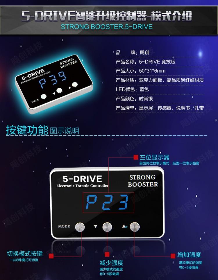 Чип tune Auto Strong Booster Автомобильный контроллер дроссельной заслонки для Mitsubishi Galant усиление большей мощности быстрая скорость быстрая реакция ... - 5