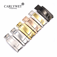 CARLYWET Wholesale 16 x 9mm Stainless Steel Replacement Watch Buckle Clasp For GMT Submariner Bracelet Rubber Leather Band