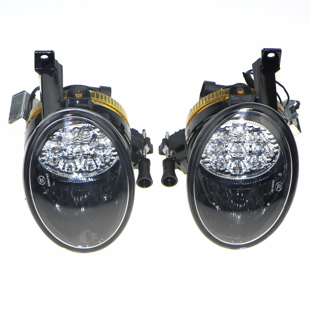 1Pair of Front Lower Clean LED Fog Light Lamp Fit For VW Jetta Golf MK6 Plus Eos 5K0 941 699 5K0 941 700 5KD 941 699 5KD 941 700 free shipping new pair halogen front fog lamp fog light for vw t5 polo crafter transporter campmob 7h0941699b 7h0941700b