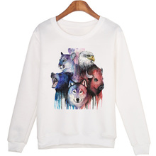 BAEKADOO Harajuku Autumn Sweatshirt Loose Animal  Print  Hoodie Long Sleeves Students