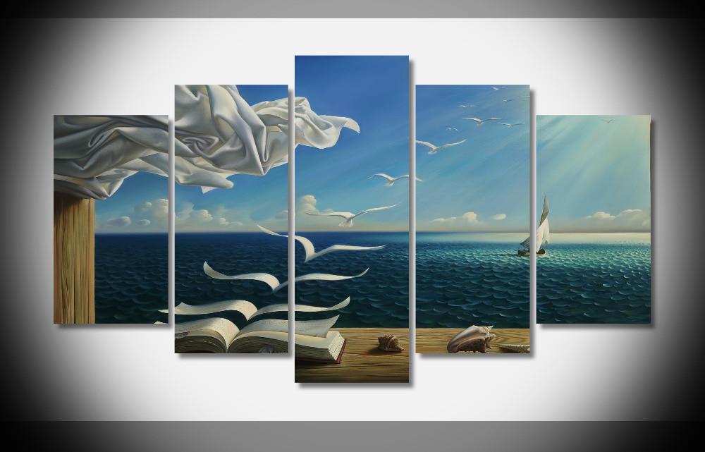 Tienda Online 8050 digital fantasía arte naturaleza sol libros aves ...