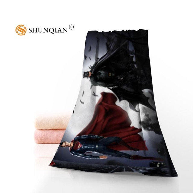 Superman Vs Batman Face Towel Bath Size 35x75cm 70x140cm Microfiber Fabric Modern Beach