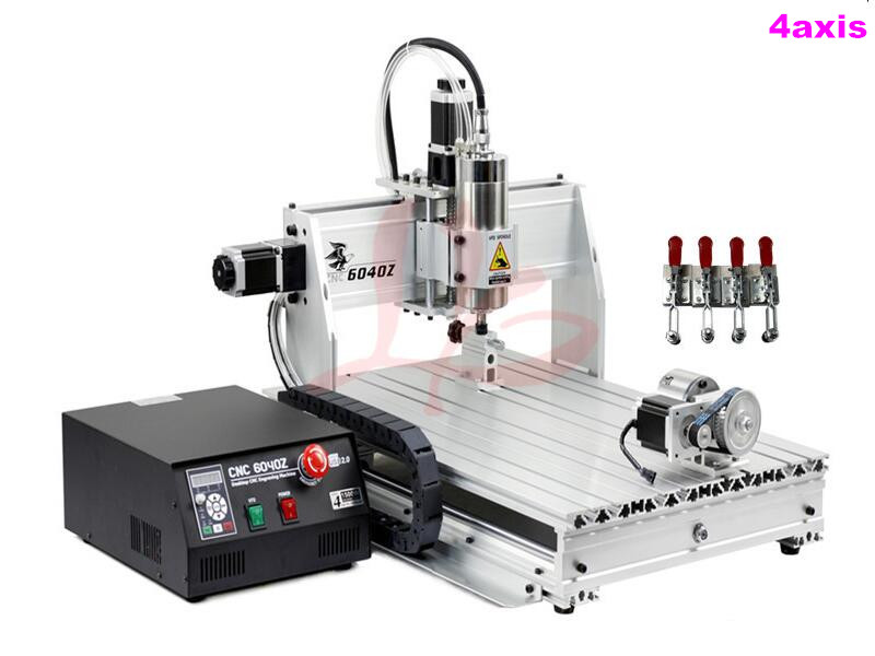 Limit Switch LY CNC 6040 2.2kw 4 Axis engraving milling Machine for stone metal carving with USB port cnc milling machine 4 axis cnc router 6040 with 1 5kw spindle usb port cnc 3d engraving machine for wood metal