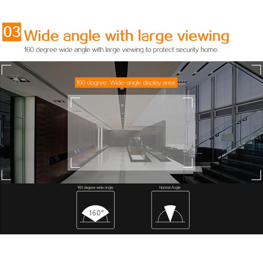 2,4 дюймов цветной экран беспроводной дверной звонок WiFi Видео Домашний телефон домофон система цифровой глазок дверной звонок