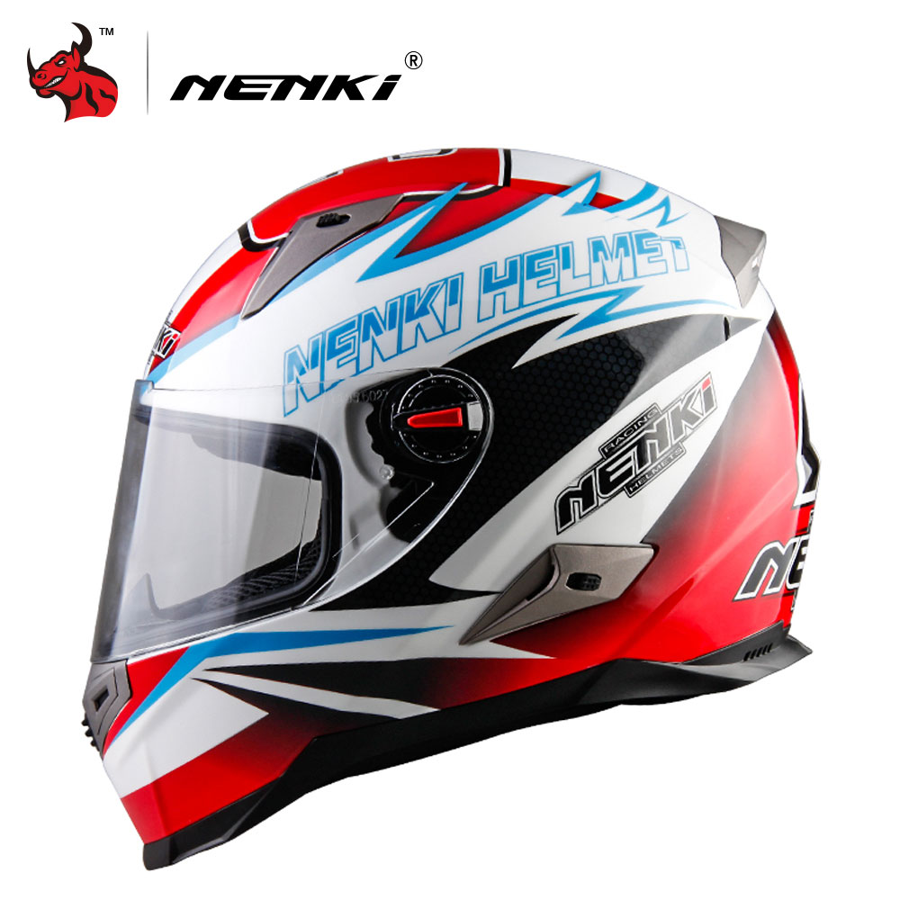 NENKI Motorcycle Helmet Men Motorbike Full Face Helmet ECE Certification Motocross Racing Moto Helmet Capacete De Motocross 2017 new ece certification ls2 motocross motorcycle helmet ff352 full face motorbike helmets made of abs and pc silver decadent