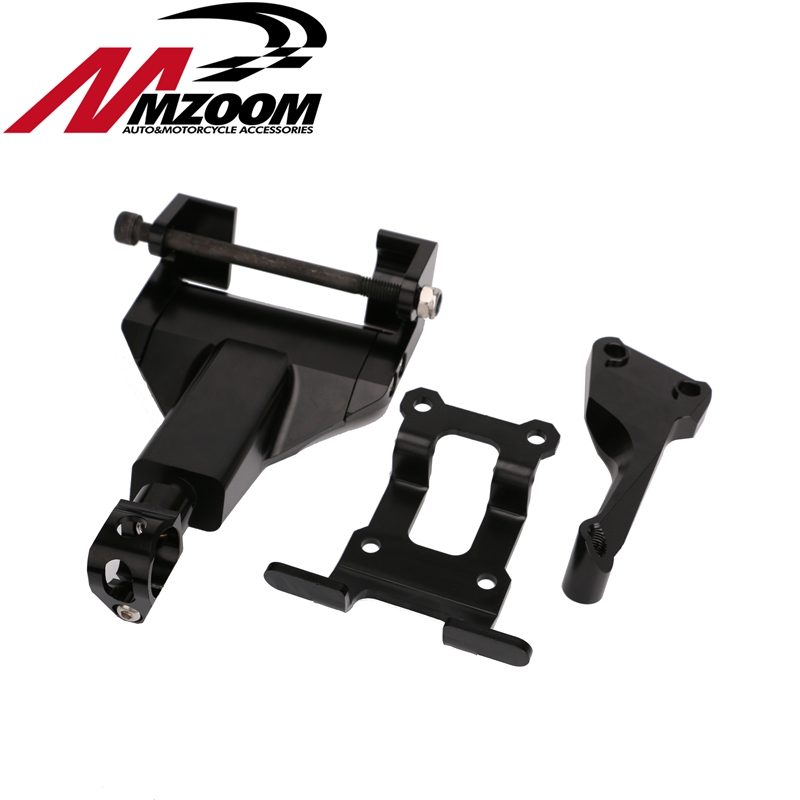 Motorcycle Complete with Mounting Kit Steering Damper Bracket for yamaha mt-07 fz-07 2014 2015 2016 2017 new black motorcycle steering damper stabilizer with mounting bracket kit for yamaha mt09 mt 09 fz 09 2014 2015 2016